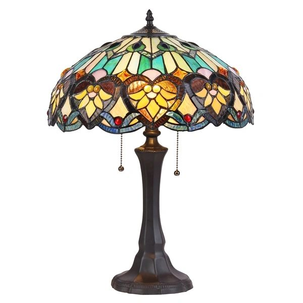 Kendall 16 inch 2 light tiffany style table lamp ch35576gv16 tl2 kendall 16 inch 2 light tiffany style table lamp ch35576gv16 tl2 aloadofball Image collections