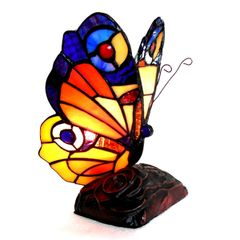 KACY6 9 Inch 1-Light Tiffany Style Accent Lamp, CH10809OA09-NL1