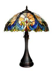 AMOR 16 Inch 2-Light Victorian Tiffany Style Table Lamp, CH16780VA16-TL2