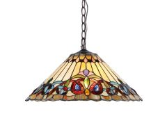 AMBROSE 18 Inch 2-Light Tiffany Style Victorian Hanging Pendant, CH33318VI18-DH2