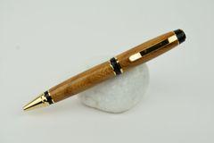 St John Cigar ballpoint pen, elm, gold plated