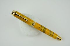 Graduate postable fountain pen, yellow ochre, gold plated