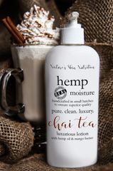 Chai Tea Organic Hemp Body Lotion, 8 oz pump