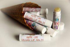 Organic Waffle Cone Vegan Lip Balm, standard tube .15 oz