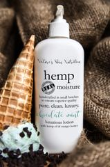 Chocolate Mint Organic Hemp Body Lotion, 8 oz pump