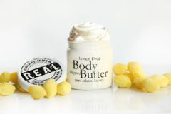 Organic Lemon Drop Body Butter, 4 oz glass jar