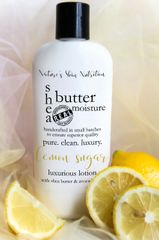 Organic Lemon Sugar Shea Butter Vegan Lotion, 4.75 oz