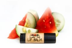 Cucumber Melon Vegan lip balm, standard lip balm tube .15 oz Organic Ingredients