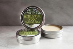 All Natural Athlete's Foot Balm, 2 oz tin. Organic Ingredients. Cruelty Free. Vegan.