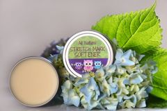Organic Stretch Mark Balm, 2 oz Vegan Organic Ingredients. Cruelty Free.