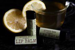 Organic Green Tea Vegan Lip Balm .15 oz