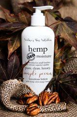 Maple Pecan Organic Hemp Body Lotion, 8 oz pump