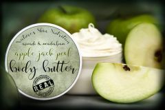 Apple Jack Peel Body Butter, 4 oz Vegan. Organic Ingredients. Cruelty Free.