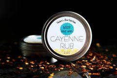 All Natural Cayenne Rub, 2 oz. Organic Ingredients. Vegan. Cruelty Free.
