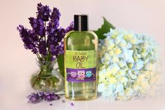 All Natural Lavender Baby Oil, 4 oz Vegan. Organic Ingredients. Cruelty Free.