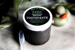All Natural, Fluoride Free Kid's Mint Toothpaste. 4 oz jar. Organic Ingredients. Vegan. Cruelty Free.