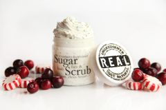 Cranberry Peppermint Sugar Scrub, 5.5 oz