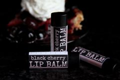 Organic Black Cherry Vegan Lip Balm, standard tube .15 oz