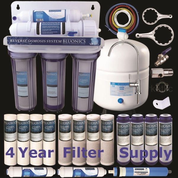 6ed97b97235 Reverse Osmosis 50 GPD 5 Stage RO Drinking Water System Purifier ...