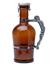#515 Knucklehead Handle Amber Glass