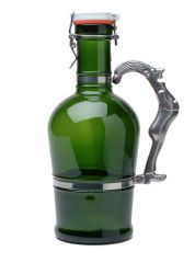 #610 Drunken Man Handle Green Glass