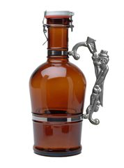 #511 Lamplighter Handle Amber Glass