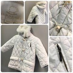 Burberry White Coat Size:18M