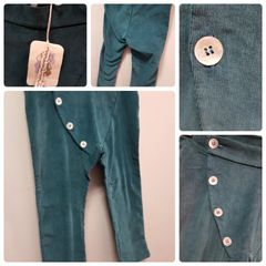 Minimu Teal Cross Button Pants Size:3