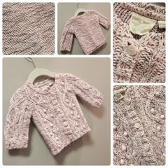 Petit Lem Pop-Pink Knit Sweater Size:3M