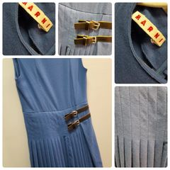 Marni Sharpen Blue Dress Size:4