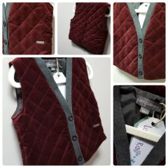 Pompomme Red and Sharp Vest Size:3