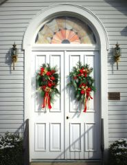 Christmas Church Doors