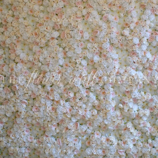 Blush and white peony rose flower wall the flower wall company lola blush flower wall mightylinksfo