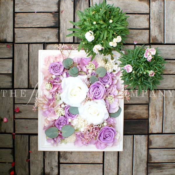 White Lilac Floral Frame