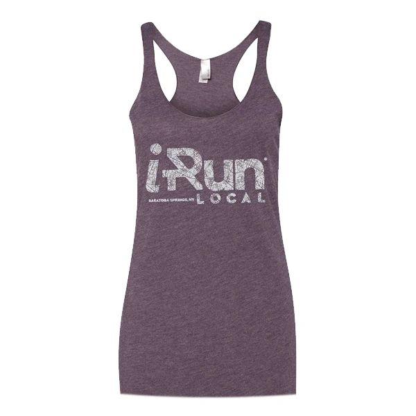 iRun LOCAL Women's Tanks - Tri Blend - Vintage Purple