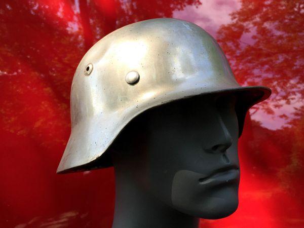 Elite German WW2 M35 Chrome COMBAT Helmet Stahlhelm 1939 Dated Pins WWII  Parade Hitler Germany Berlin Nazi