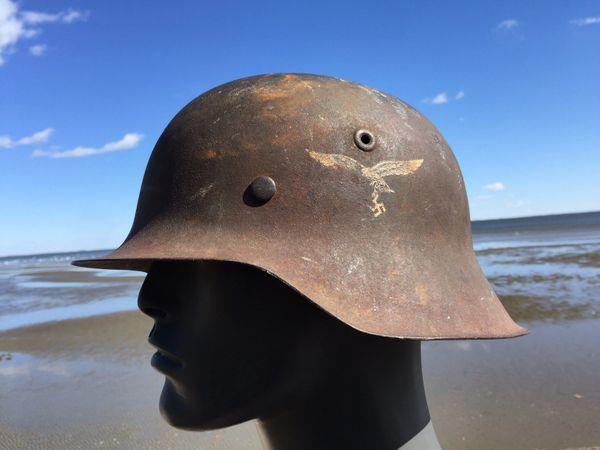 Single DECAL WW2 M-42 German LUFTWAFFE Combat Helmet 1943 Date LINER RIM  WWII Eagle Air Force