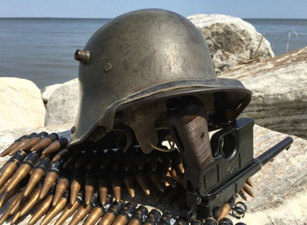 Ww1 Wwi German M17 Steel Stahlhelm Trench Helmet 1917