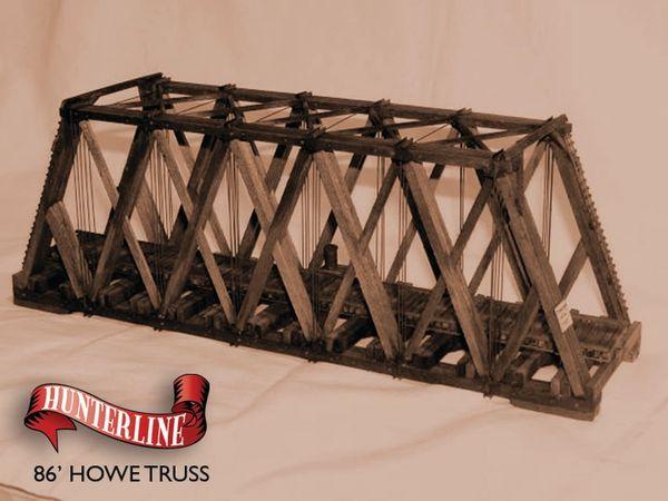 86 howe truss through bridge scale ho length 11 7 8 width 3 1