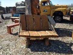 Wooden Slab Seat