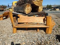 Hand Crafted Log Bench