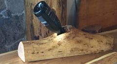 Elm Wood Wine Holder