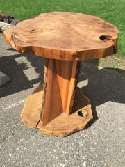 Round Elm Wood Table