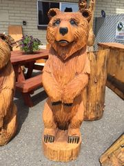 "Toste Hand Carved Bear 59"" X 19"""