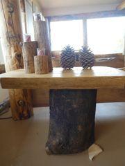 Pine End Table on Ash Base