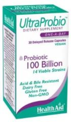 "Probiotic ""UltraProbio""™ 100 Billion 30 caps by HealthAid $48.99"