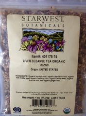 Liver Cleanse Tea Organic Blend (4oz) by Starwest Botanicals $8.50