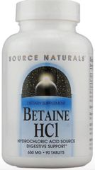 Betaine HCl 650 mg (90 Tablets) by Source Naturals $11.55