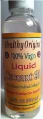 Coconut Oil - Liquid - 100% Virgin (10 fl oz) by Healthy Origins $10.99