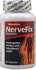 """Nerve Fix"" Homeopathic Pain Relief (60 caps) by NaturalCare $22.99"